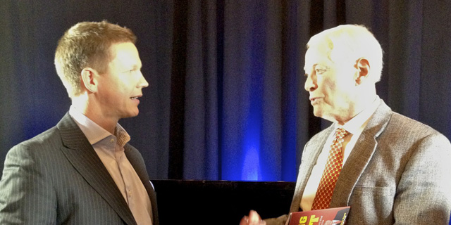 Mikkel Pitzner and Brian Tracy cut