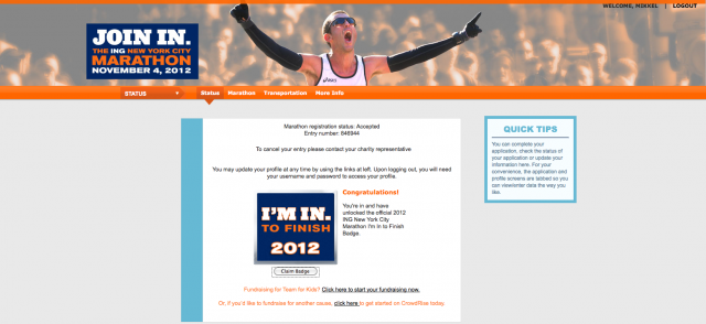 Mikkel Pitzner To Race In The 2012 ING New York Marathon