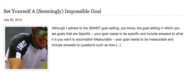 Set Yourself An Impossible Goal July 20 2012 Mikkel Pitzner