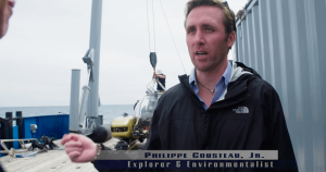 Philippe Cousteau on board Baseline Explorer during important Project Baseline event